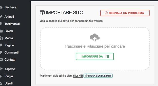 importare-sito-wordpress-sergio-furegon-web-design-padova